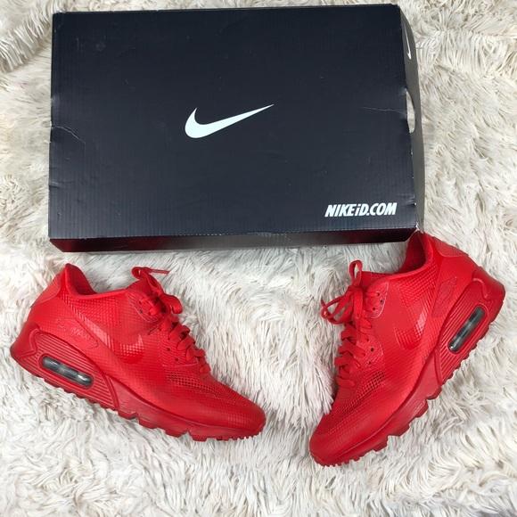 cortar Documento Diálogo  Nike Shoes | Red Air Max 90 Id Customize Size 75 | Poshmark